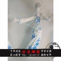 玻璃钢彩绘古代女子奏乐吹笛子雕塑抽象城市步行街迎宾装饰品摆件