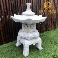 石雕灯笼寺院仿古日式庭院灯笼现代中式园林酒店草坪
