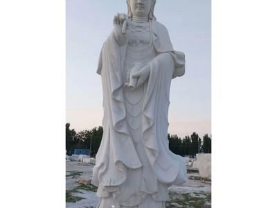 石雕汉白玉南海观音菩萨佛像观世音