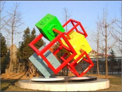 万硕不锈钢园林广场雕塑加工定制价