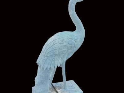 石雕仙鹤雕刻汉白玉白天鹅动物雕塑