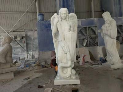 石雕西方人雕塑