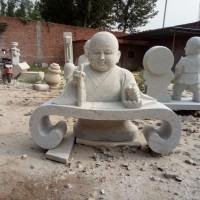 石雕小和尚人物雕塑