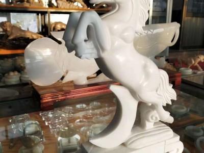 石雕小马十二生肖工艺品雕刻