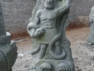石雕上古人物青石户外园林古广场雕