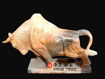 石雕牛风水十二生肖招财动物