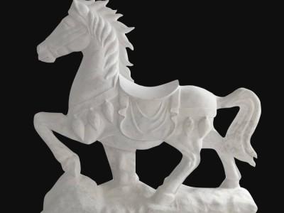 石雕马十二生肖动物雕塑