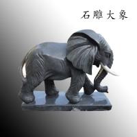 石雕大象青石动物雕塑