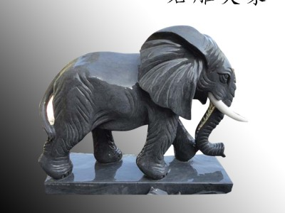 石雕大象动物雕塑