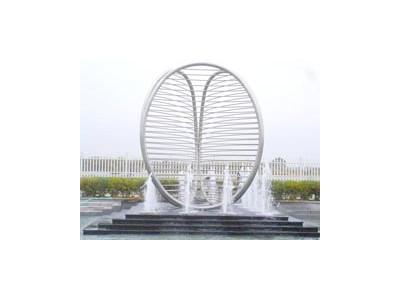 伊甸园不锈钢雕塑喷泉加工定制