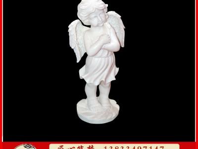 石雕西方小天使人物雕塑