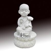 石雕小沙弥人物佛像禅意雕塑厂家定制销售
