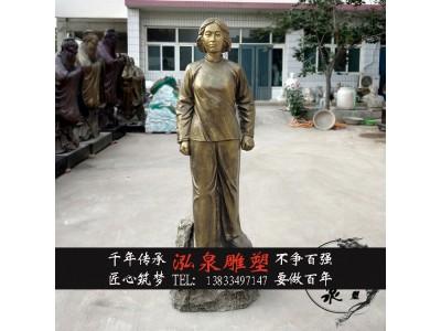 玻璃钢仿铜人物雕塑革命先烈刘胡兰