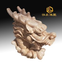石雕龙头流水雕塑