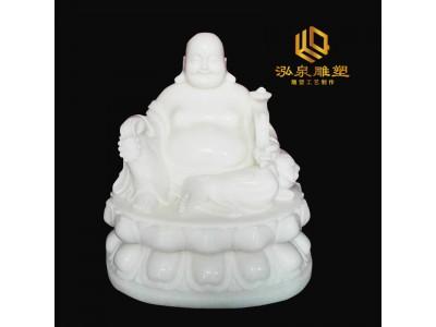 石雕弥勒佛风水招财雕塑