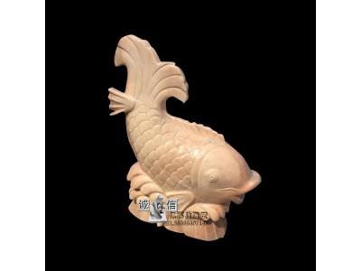 石雕晚霞红喷水鱼招财别墅庭雕塑