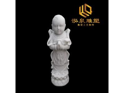石雕小沙弥佛像雕塑