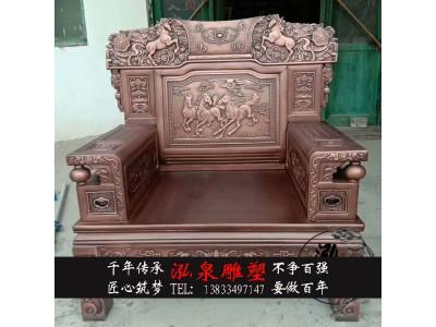 玻璃钢仿铜中式桌椅室内家具八仙桌
