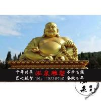 玻璃钢大肚弥勒佛像贴金箔招财笑佛布袋和尚阿弥陀佛如来寺庙装饰