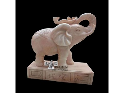 石雕小象流水雕塑