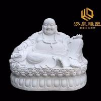 石雕弥勒佛汉白玉大肚佛佛像观音人物雕塑寺院景区风水招财雕刻