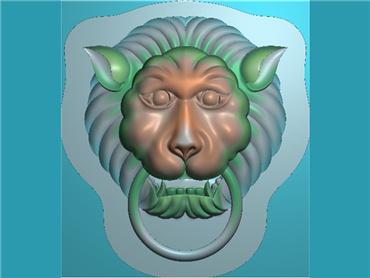 DWGJ291-JDP格式仿古狮子头挂件精雕图,狮子头 挂件雕刻图