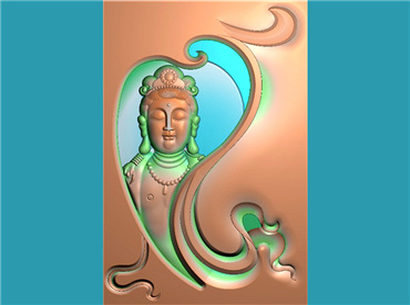 FOGJ1597-JDP格式,46牌子玉雕观音菩萨精品挂件精雕图下载