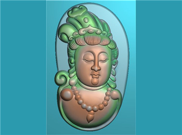 FOGJ1829-JDP格式,随形观音菩萨头像半身精品挂件精雕图下载