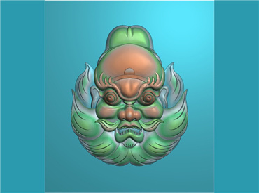 FOGJ428-JDP格式,钟馗头像挂件(含灰度图)精雕图钟馗头像牌子雕刻图