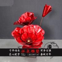 不锈钢仿真玫瑰花雕塑铁艺大型创意花朵婚庆道具户外花园装饰摆件