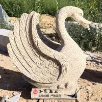 石雕喷水天鹅雕塑动物流水龙头汉白玉户外庭院园林厂家定制销售