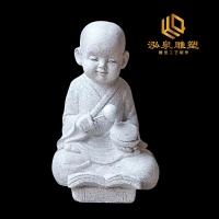 石雕小沙弥大理石小和尚寺庙公园雕塑佛像禅意石像园林厂家直销