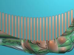 RYXLSZ016-古代美女梳子精雕图下载