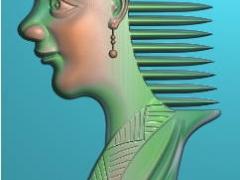 RYXLSZ018-女人头梳子精雕图下载