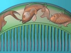 RYXLSZ025-新鱼梳子精雕图下载