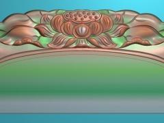 RYXLSZ036-莲花梳子精雕图下载