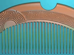 RYXLSZ056-方卷云纹梳子精雕图下载