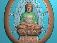 GJFX011-佛祖挂件精雕图下载