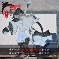 不锈钢金属镜面创意仿真植物枫叶树叶雕塑城市广场公园林装饰摆件