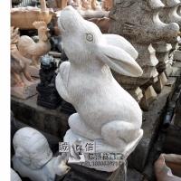 石雕山羊汉白玉铜钱十二生肖羊户外草坪风水招财动物雕塑