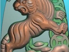 FDDW001-浮雕图动物雕刻图上山虎精雕图库下载.7z