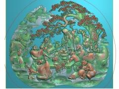 FDDW008-浮雕图动物雕刻图十二生肖精雕图库下载
