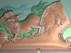 FDDW010-浮雕图动物雕刻图大奔狮子脑精雕图库下载