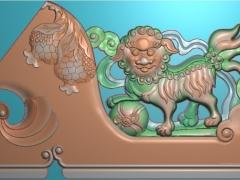 FDDW017-浮雕图动物雕刻图狮子精雕图库下载