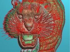 FDDW021-浮雕图动物雕刻图老虎精雕图库下载