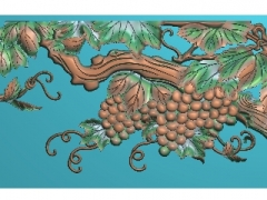 FDZW17-葡萄精雕图下载