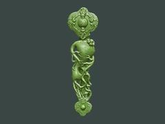 MLPS002-人参如意弥勒菩萨精品圆雕图人参如意弥勒菩萨雕刻图人参如意弥勒菩萨精雕图下载