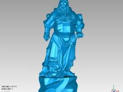 GG003-关公圆雕图关公三维雕刻关公立体图关公精雕图关公四轴圆雕图关公3D模型关公stl图下载