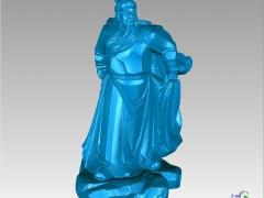 GG009-关公圆雕图关公三维雕刻关公立体图关公精雕图关公四轴圆雕图关公3D模型关公stl图