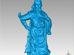 GG010-关公圆雕图关公三维雕刻关公立体图关公精雕图关公四轴圆雕图关公3D模型关公stl图